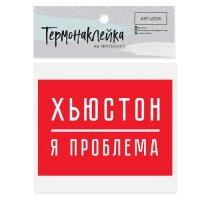 Термонаклейка для текстиля «Я проблема», 15.5 × 11 см