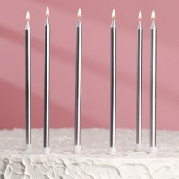 Свечи для торта Золото/Серебро