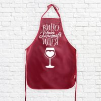 """Фартук """"Вино всегда хорошая идея"""""""