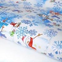 Бумага упаковочная «Снеговички», 70 × 100 см
