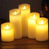 """Светодиодная свеча """"Живое пламя"""", 15 см"""