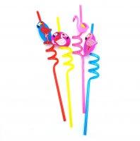 Трубочки для коктейля Фламинго