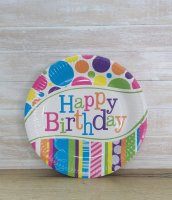 Тарелка бумажная Happy BD 23 см
