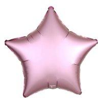 """Шар фольгированный 21"""" звезда, розовый фламинго мистик"""