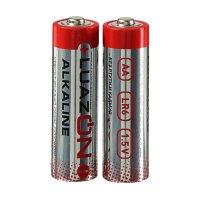 Батарейка алкалиновая LuazON, АА, LR6