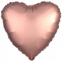 """Шар фольгированный Сердце 18"""", Розовое золото"""