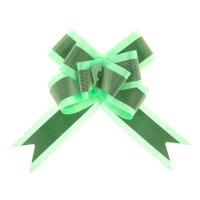 Бант бабочка №5 с полосой, зеленый