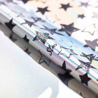 Плёнка упаковочная с голографией Starry sky, 100 × 70 см