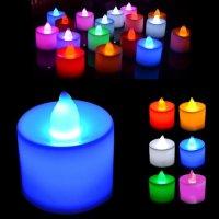 Светодиодная свеча, цветная