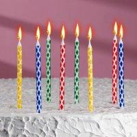 """Свечи в торт """"Ромбик"""" , 14см, 8шт"""