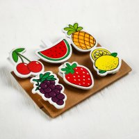 Набор прищепок «Фрукты и ягоды», 6 шт