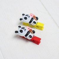 Прищепка декоративная «Панда с мороженным»