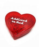 Коробка подарочная Сердце красное 11х10 см