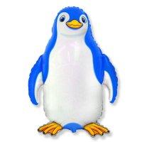 """Шар фольгированный 30"""" """"Счастливый пингвин"""", цвет синий"""