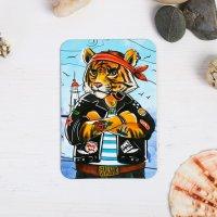 Магнит «Владивосток. Брутальный тигр»