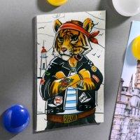 Магнит двусторонний «Владивосток. Тигр»