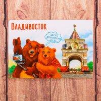 Магнит двусторонний «Владивосток. Мишки»