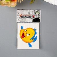 """Татуировка временная """"Желтая рыбка"""""""