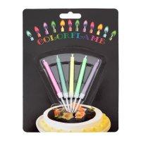 Свечи для торта Цветное пламя, 5 шт