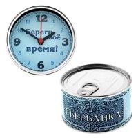 """Часы в консервной банке """"Сбербанка"""""""