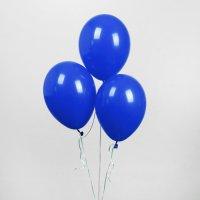 """Шар латексный тёмно-синий, 12"""", пастель"""