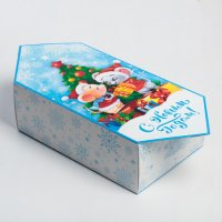 Сборная коробка‒конфета «Подарочки», 18 × 28 × 10 см