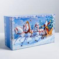 Подарочная коробка «Новогодняя тройка», 32.5×20×12.5 см