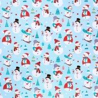 Бумага упаковочная «Снеговики», 70×100 см